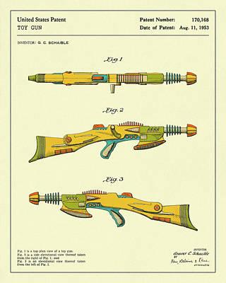 Gun Wall Art - Digital Art - Disintegrator Rifle 1953 by Jazzberry Blue
