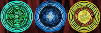 Digital Art - Circularity On Red Drape by SC Heffner