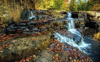 Dismal Creek Falls Horizontal Art Print