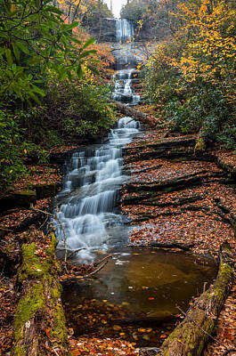 Photograph - Dismal Falls In Autumn by Chris Berrier