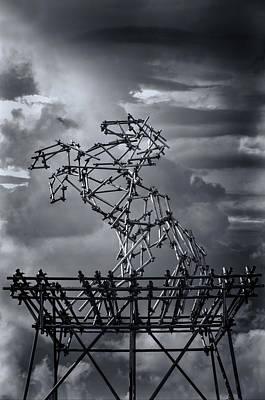 Installation Art Photograph - Dismaland Steel Horse by Jason Green
