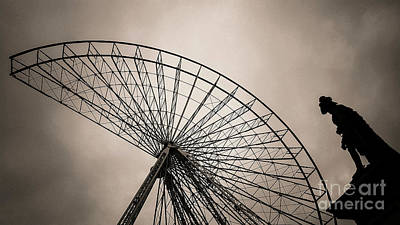 Dismantling Of A Ferris Wheel. Art Print by Bernard Jaubert