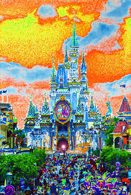 Disney Painting - Disney At Fifty by David Lee Thompson