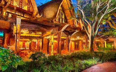 Digital Art - Disney Aulani Resort Spa Hawaii by Caito Junqueira