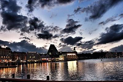 Photograph - Disney Boardwalk Sunset by Jason Nicholas