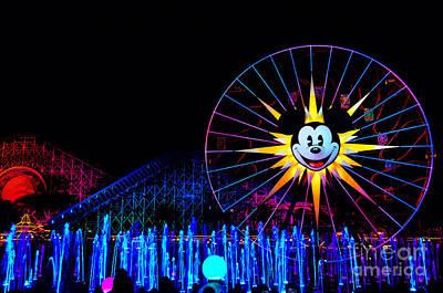 Disney Character Photograph - Disney California Adventure Mickey's Fun Wheel by Peter Dang