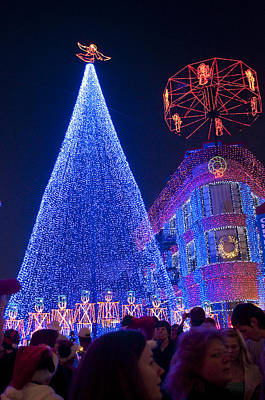Photograph - Disney Christmas Lights Spectacle by Charles  Ridgway