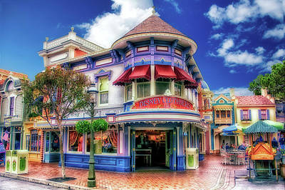 Photograph - Disney Clothiers Main Street Disneyland 01 by Thomas Woolworth