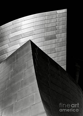 Photograph - Disney Concert Hall Black And White by Michael Cinnamond