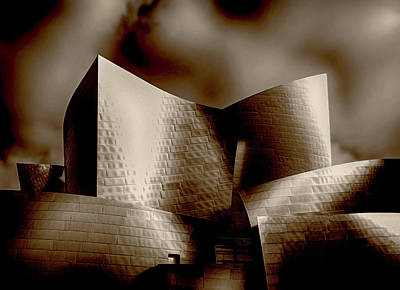 Photograph - Disney Concert Hall by Joseph Hollingsworth