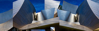 Montage Photograph - Disney Concert Hall-montage (color Version) by Ron Jones