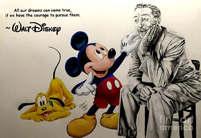 Animation Drawing - Disney- Dreams Come True by Chris Volpe