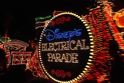 Photograph - Disney Electric Parade by Rob Hans