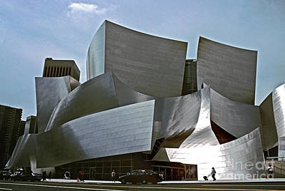 Monochrome Landscapes - Disney Hall, Los Angeles CAL807 by Howard Stapleton