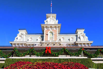 Photograph - Disney Railroad Station by Mark Andrew Thomas