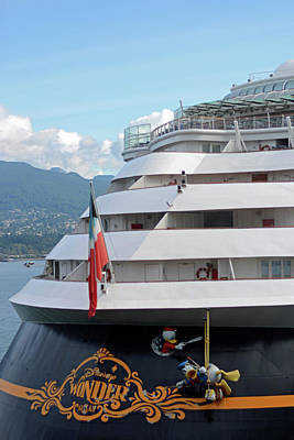 Photograph - Disney Wonder In Vancouver by Connie Fox