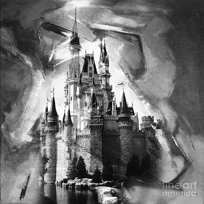 Cinderella Castle Painting - Disney World 031 by Gull G