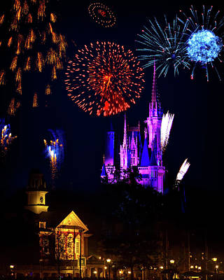 Photograph - Disney World Fireworks by Mark Andrew Thomas
