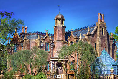 Haunted House Photograph - Disney World Haunted Mansion  by Mark Andrew Thomas