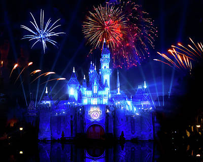 Photograph - Disneyland 60th Anniversary Diamond Celebration by Mark Andrew Thomas