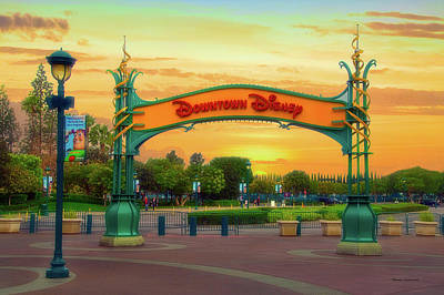 Photograph - Disneyland Downtown Disney Signage 02 by Thomas Woolworth
