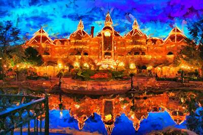 Movies Star Paintings - Disneyland Hotel Paris by Caito Junqueira