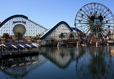 Photograph - Disneyland Reflection by David Nicholls