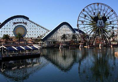 Photograph - Disneyland Reflection by David Nicholls