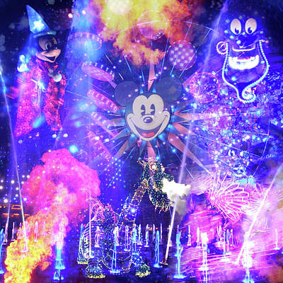 Photograph - Disneyland World Of Color Mirage by Kyle Hanson