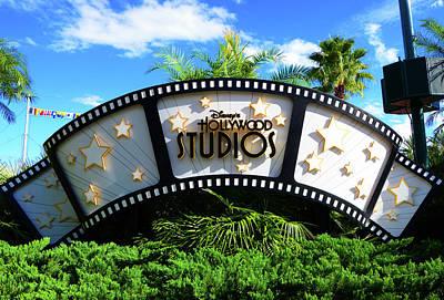 Photograph - Disney's Hollywood Studios Sign by David Lee Thompson