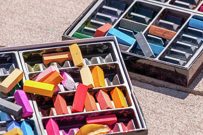 Photograph - Disorganized Art Chalk by SR Green