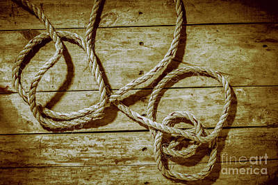 Rope Wall Art - Photograph - Dispatched Ropes And Voyages by Jorgo Photography - Wall Art Gallery