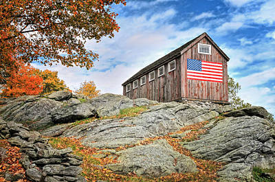 Litchfield Hills Photograph - Display Of Colors - Roxbury Barn  by Thomas Schoeller