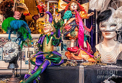 Photograph - Display Window -mardi Gras Nola by Kathleen K Parker