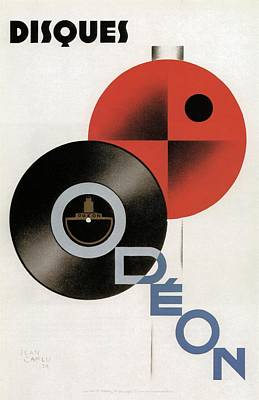 Mixed Media - Disques Odeon - Vintage Advertising Poster by Studio Grafiikka