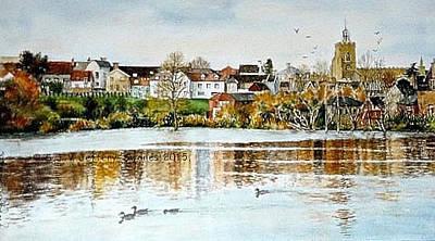 Painting - Diss Norfolk Uk by SJV Jeffery-Swailes