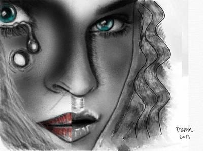 Psychiatric Mixed Media - Dissociative Identity Disorder by Ricardo Mester