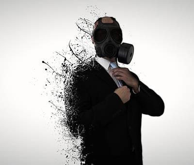 Mask Photograph - Dissolution Of Man by Nicklas Gustafsson