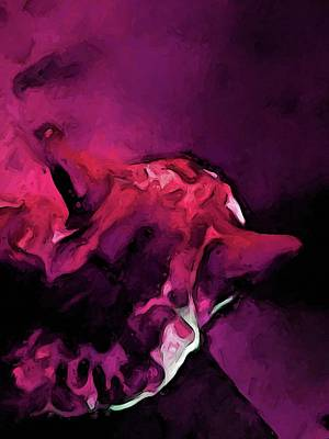 Digital Art - Dissolving Pink Cat by Jackie VanO