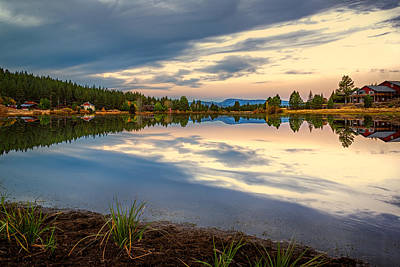 Photograph - Cloudy Pond by Maria Coulson