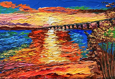 Painting - Distant Bridge by Chrys Wilson