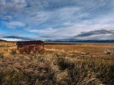 Old Cabins Photograph - Distant Cabin by Leland D Howard
