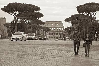 Photograph - Distant Colosseum by Eric Tressler