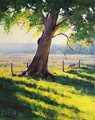 Gercken Painting - Distant Farm by Graham Gercken