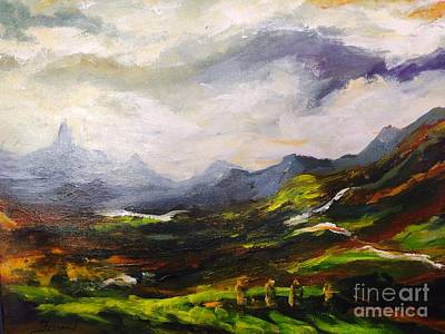 Painting - Distant Fields by Karen  Ferrand Carroll