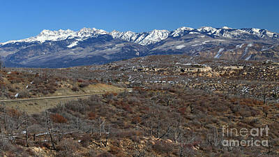 Photograph - Distant Mountain Range by Mary Haber
