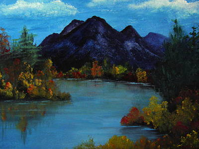 Distant Mountain View Art Print by Rhonda Myers