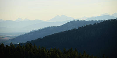 Photograph - Distant Mountains Blue by Whispering Peaks Photography