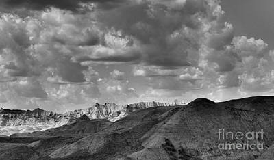 Photograph - Distant Mountains The Badlands by Nadalyn Larsen