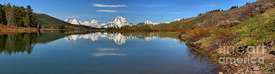 Distant Mt. Moran Reflections Art Print by Adam Jewell